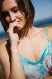 Beautiful caucasian girl stock photography