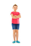 Beautiful Caucasian girl full height portrait royalty free stock photo
