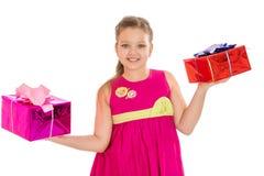 Beautiful caucasian girl holding a beautifully Stock Photos