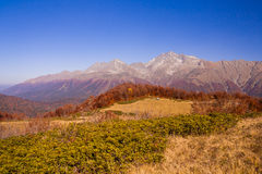 Beautiful Caucasian mountains in autumn Royalty Free Stock Photography