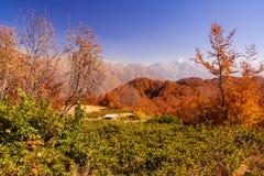Beautiful Caucasian mountains in autumn Stock Photography