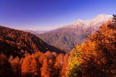 Beautiful Caucasian mountains in autumn Royalty Free Stock Photo