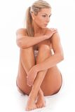 Beautiful caucasian naked natural woman Royalty Free Stock Images