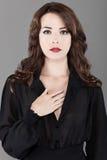 Beautiful caucasian woman portrait stock image
