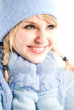 Beautiful caucasian winter girl Royalty Free Stock Photography
