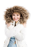 Beautiful caucasian winter girl Royalty Free Stock Image