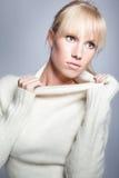 Beautiful caucasian winter woman Stock Image