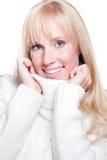 Beautiful caucasian winter woman Royalty Free Stock Image