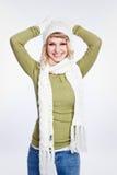 Beautiful caucasian winter woman Royalty Free Stock Photos