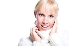 Beautiful caucasian winter woman Stock Photo