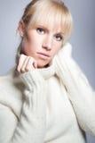 Beautiful caucasian winter woman Stock Photography