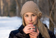 Beautiful caucasian woman Stock Photo