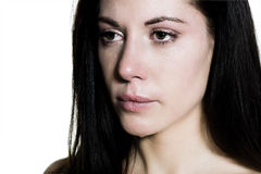 Beautiful caucasian woman crying Royalty Free Stock Image