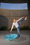 Beautiful Caucasian Woman Dancing Stock Photography