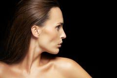 Beautiful caucasian woman with flawless skin Royalty Free Stock Photo