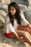 Beautiful Caucasian woman Royalty Free Stock Photos