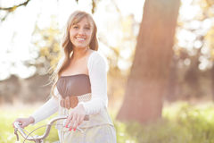 Beautiful Caucasian woman outdoor Royalty Free Stock Images