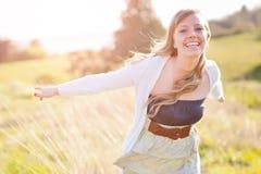 Beautiful Caucasian woman outdoor Royalty Free Stock Image