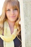 Beautiful Caucasian woman outdoor Royalty Free Stock Photos