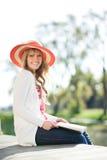 Beautiful Caucasian woman outdoor Stock Photography