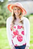 Beautiful Caucasian woman outdoor Stock Images