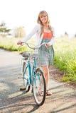 Beautiful Caucasian woman outdoor Stock Photos