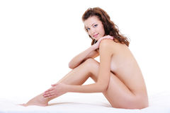 Beautiful caucasian woman with a perfect nude body Royalty Free Stock Photo