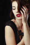 Beautiful Caucasian Woman Posing for Portraits Royalty Free Stock Photos