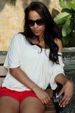 Beautiful Caucasian woman Stock Photos
