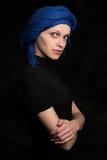 Beautiful caucasian woman wearing a headscarf Royalty Free Stock Photo