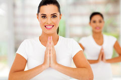 Caucasian women yoga Royalty Free Stock Photos