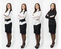 Beautiful caucasian young brown-hair business woman on white background. Manager or worker. Copy space advertisement