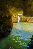 Beautiful cave in the Algarve Portugal Royalty Free Stock Photography