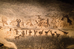 Beautiful cave drawings royalty free stock image