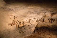 Beautiful cave drawings Stock Images