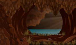A beautiful cave landscape Stock Photo