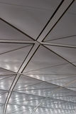 Beautiful ceiling. The Ceiling from the polished metal at the airport of Hong Kong royalty free stock image