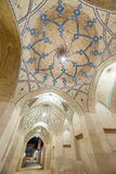Beautiful ceiling of Agha Bozorg Mosque in Kashan, Iran Royalty Free Stock Images