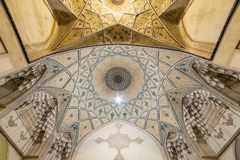 Beautiful ceiling of Agha Bozorg Mosque in Kashan, Iran Royalty Free Stock Photography