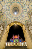 Beautiful ceiling of Agha Bozorg Mosque in Kashan, Iran Stock Image