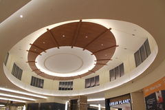 Beautiful ceiling in Brampton, Canada. Colourful Beautiful Ceiling in one leading Mall of Brampton, Canada where superb lighting and Architecture found stock photography