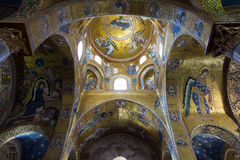 Beautiful ceiling church, Palermo, Sicily, Italy Royalty Free Stock Image