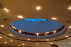 Beautiful ceiling in the hotel lobby Royalty Free Stock Images