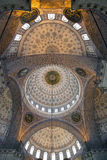 Beautiful ceiling. Inside the Mosque in Istanbul 20 september 2013 Stock Photos