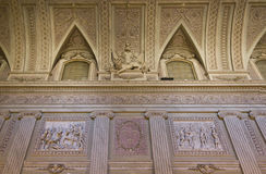 Beautiful ceiling inside the throne room of Reggia di Caserta Royalty Free Stock Photo