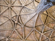 Beautiful ceiling in the Jeronimos Monastery Royalty Free Stock Photo