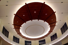 Beautiful ceiling in Mall. Colourful Beautiful Ceiling in one leading Mall of Brampton, Canada where superb lighting and Architecture found Royalty Free Stock Photo