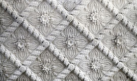 Beautiful ceiling with patterned inserts. To photograph closeup stock images