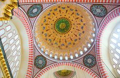 Beautiful ceiling of Suleimaniye Mosque Stock Photos
