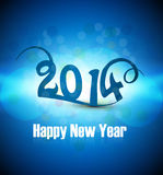 Beautiful celebration blue colorful Happy new Year Royalty Free Stock Photography